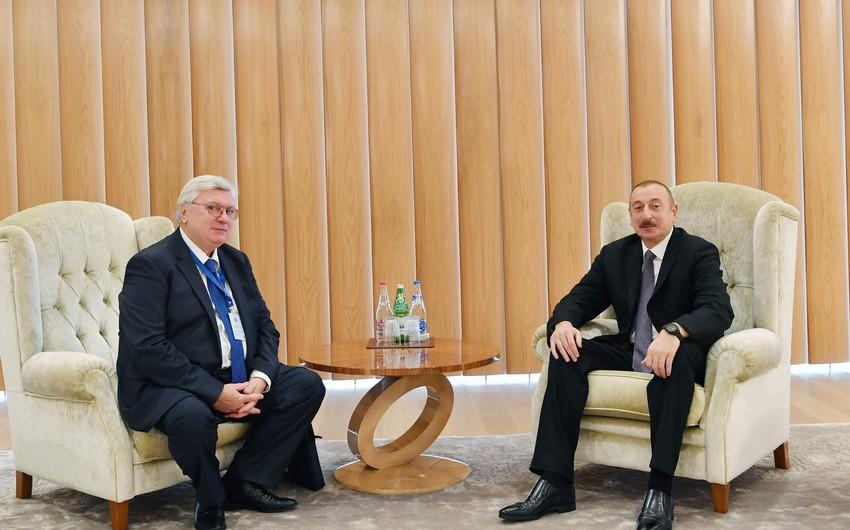 Azərbaycan Prezidenti Moskva Dövlət Beynəlxalq Münasibətlər İnstitutunun rektoru ilə görüşüb