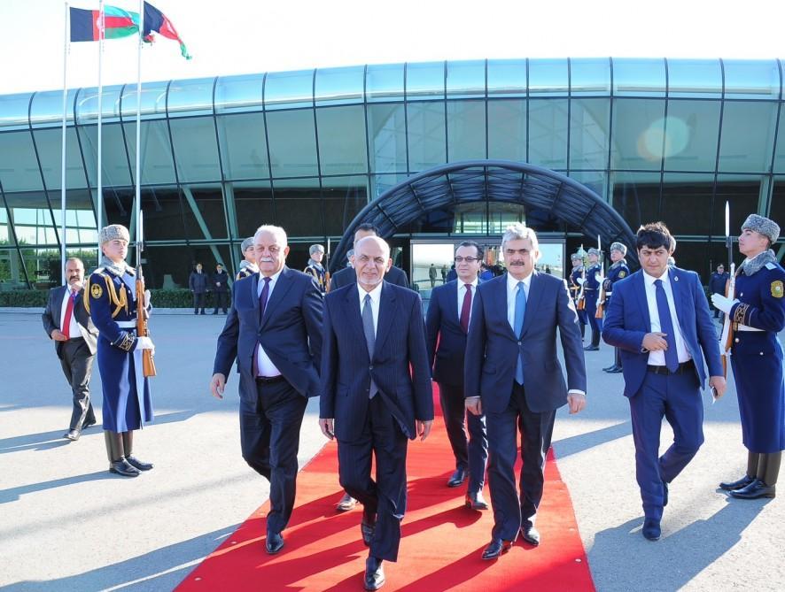Afghan president ends his visit to Azerbaijan