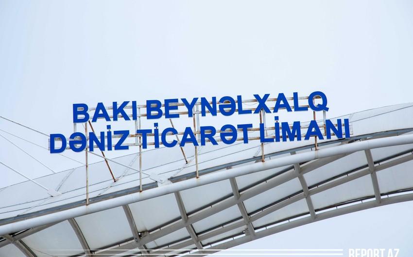 Растет объем транзитных грузов через Бакинский порт - ВИДЕОРЕПОРТАЖ