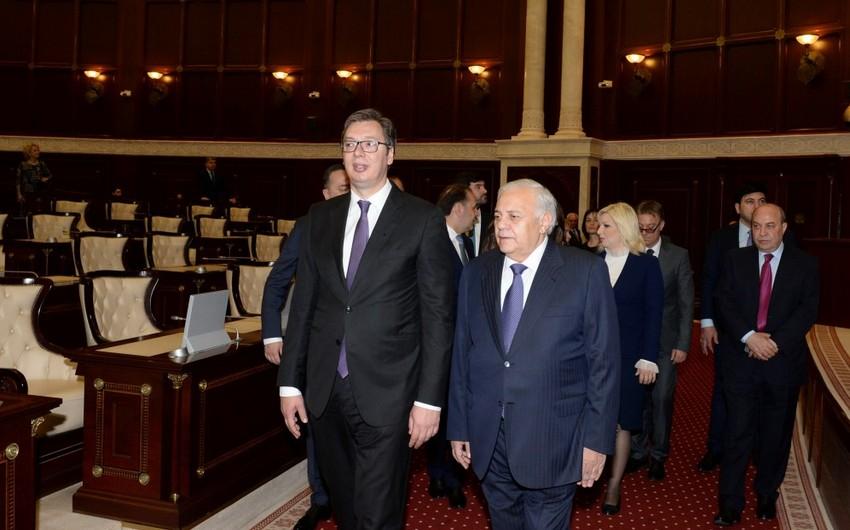 Oqtay Əsədov Serbiya Prezidenti ilə görüşüb
