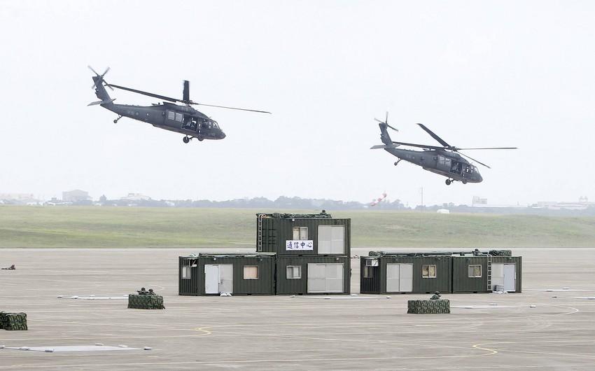 Tayvanda içərisində Baş Qərargah rəisinin olduğu helikopter qəzaya uğrayıb