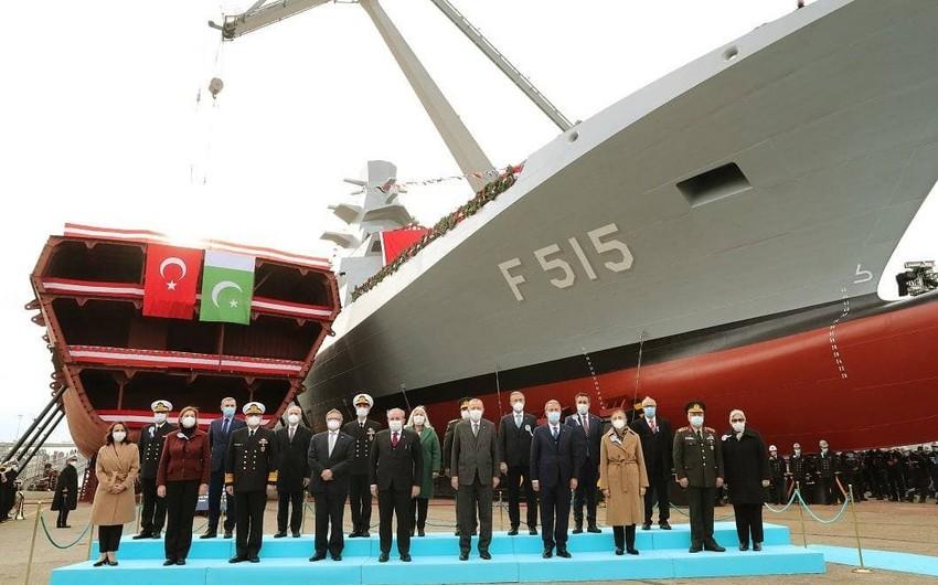 В Турции спустили на воду первый фрегат собственного производства