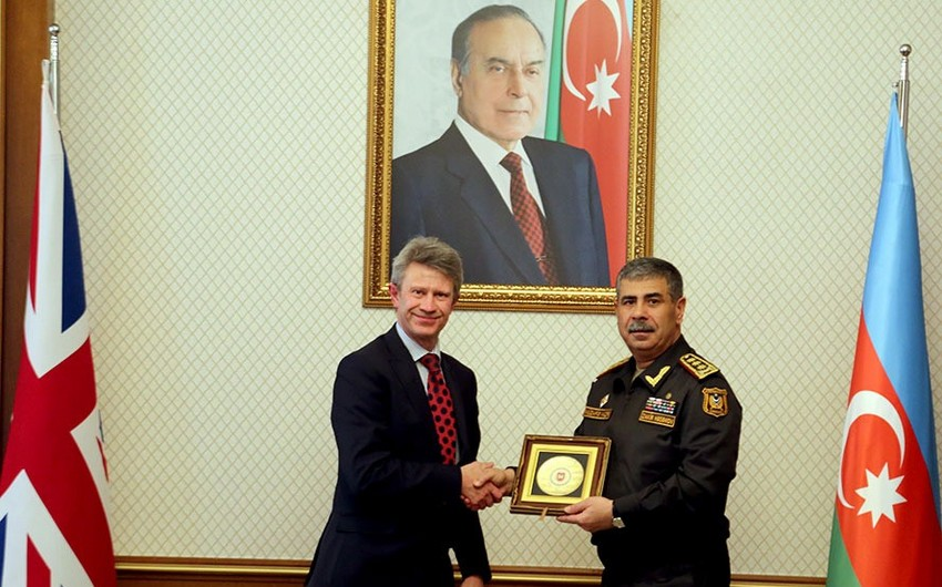 Обсуждены вопросы военного сотрудничества между Азербайджаном и Великобританией