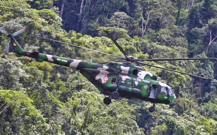 Peruda hərbi helikopter qəzaya uğrayıb, ölənlər və xəsarət alanlar var