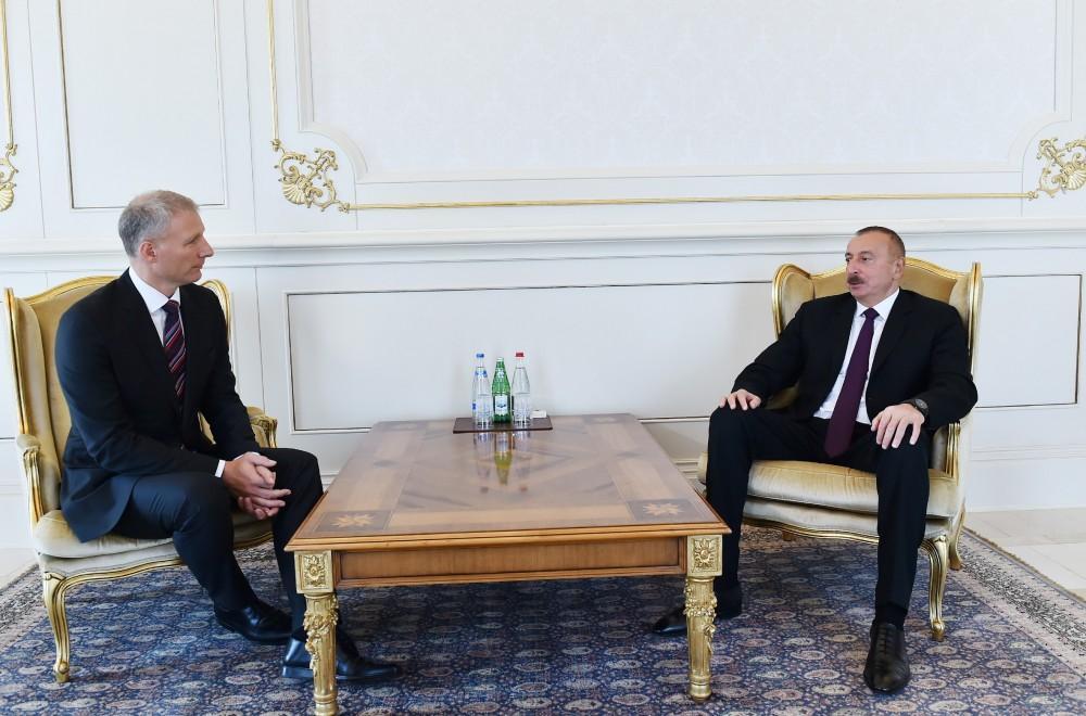 Президент Ильхам Алиев принял верительные грамоты руководителя представительства Европейского Союза в Азербайджане