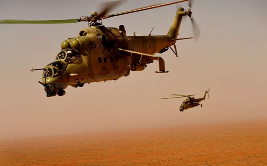 Suriyada ordu vertolyotunun heyət üzvləri terrorçulara əsir düşüb