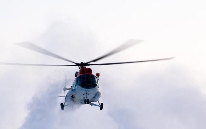Rusiyada helikopter qəzaya uğradı, ölənlər var