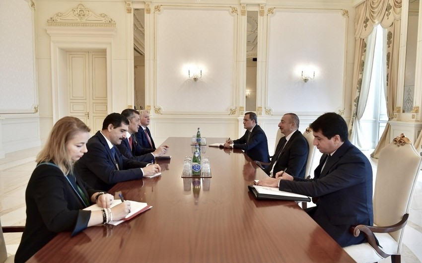 President Ilham Aliyev receives Turkish minister of National Education