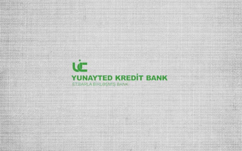 """""""United Credit Bank""""da 3,635 mln. manat əmanət olub"""