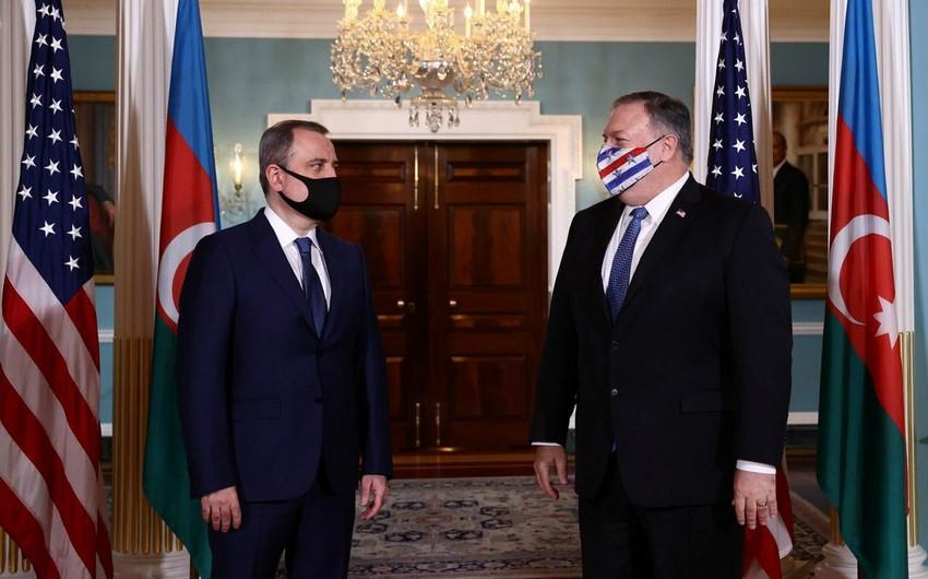 Vaşinqtonda Azərbaycan XİN başçısı ilə ABŞ Dövlət katibi arasında görüş keçirilib