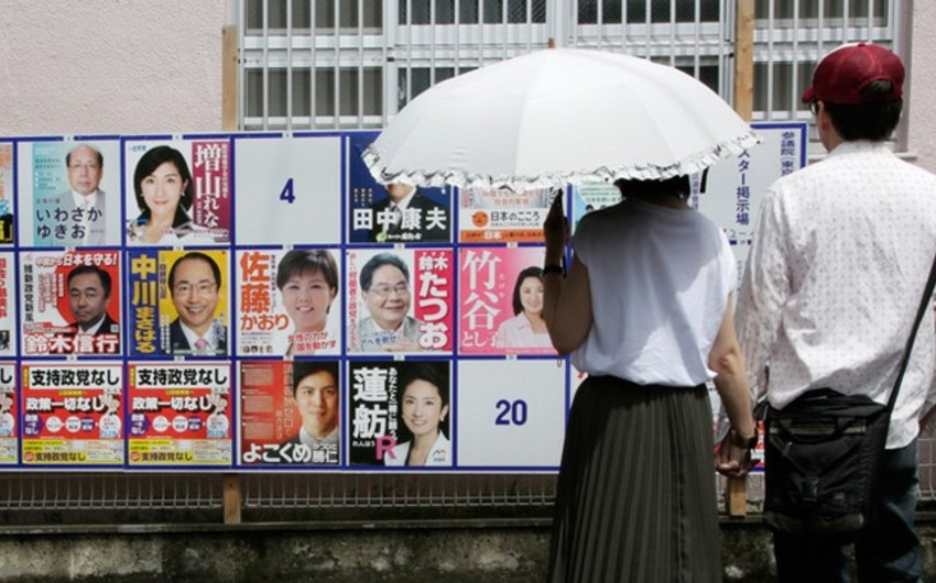 Yaponiyada parlamentin Yuxarı palatasına seçkilər başlayıb