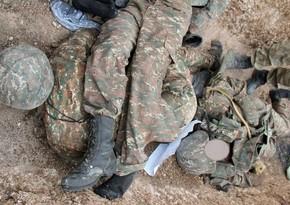 Qarabağda erməni hərbçilərin meyitlərinin qalıqları tapıldı