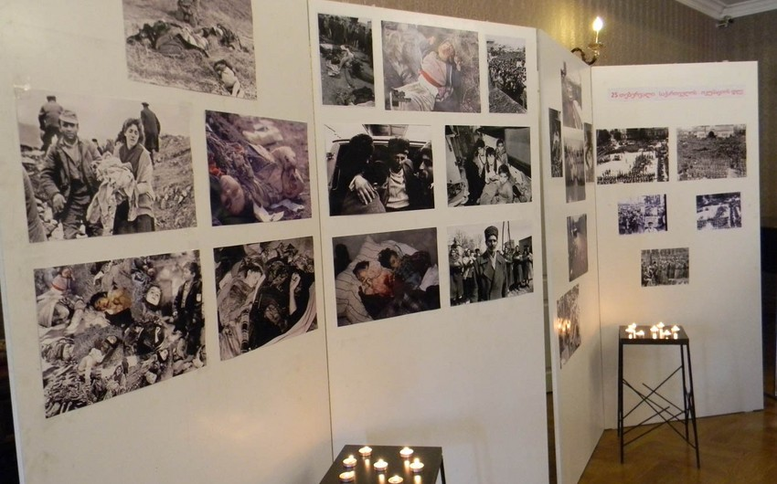 Tbilisidə Xocalı faciəsinə həsr olunmuş anım tədbiri keçirilib