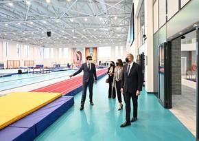 Президент ознакомился с новым зданием Национальной гимнастической арены