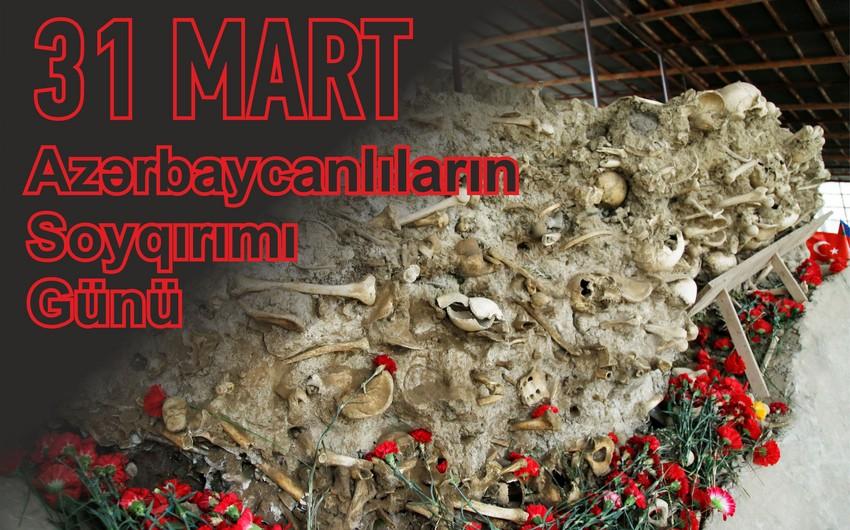Bu gün Azərbaycanlıların Soyqırımı Günüdür