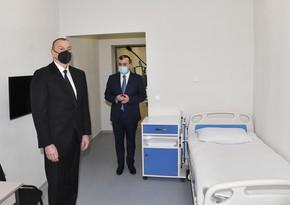 Ильхам Алиев принял участие в открытии Шаганского реабилитационного пансионата
