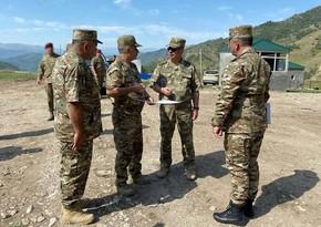 Закир Гасанов осмотрел в Кельбаджарском районе строящийся учебный полигон