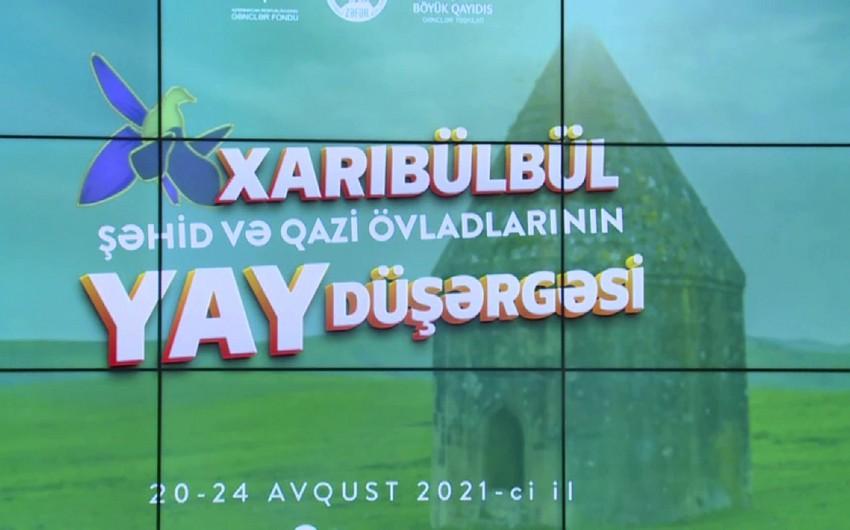 """Şamaxıda şəhid və qazi övladlarının iştirakı ilə """"Xarıbülbül"""" yay düşərgəsi açılıb"""
