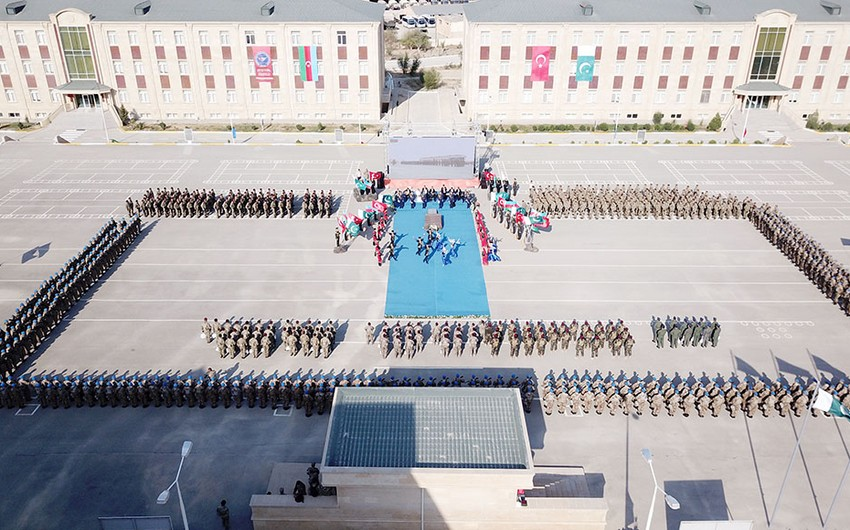 Special forces of Azerbaijan, Turkey, and Pakistan complete their training exercise