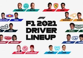 Formula 1: Komandaların yekun heyəti açıqlandı