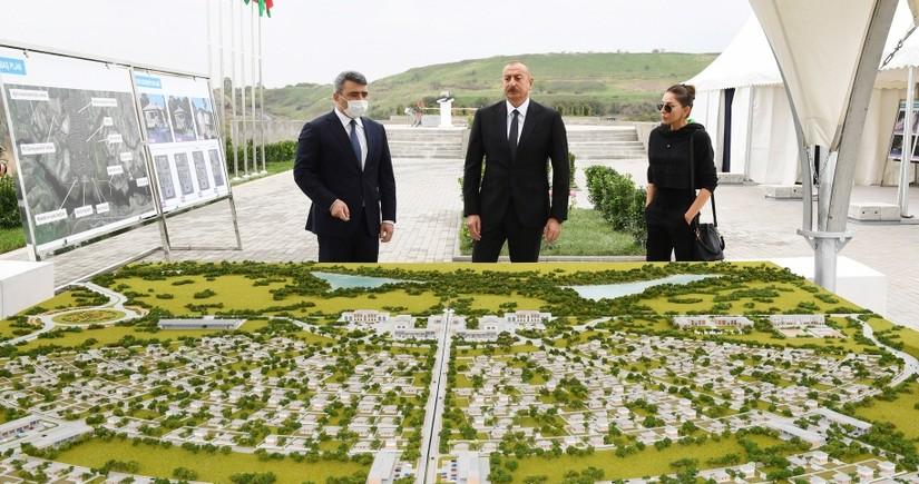 Президент заложил фундамент нового умного села в селе Довлетъярлы Физулинского района