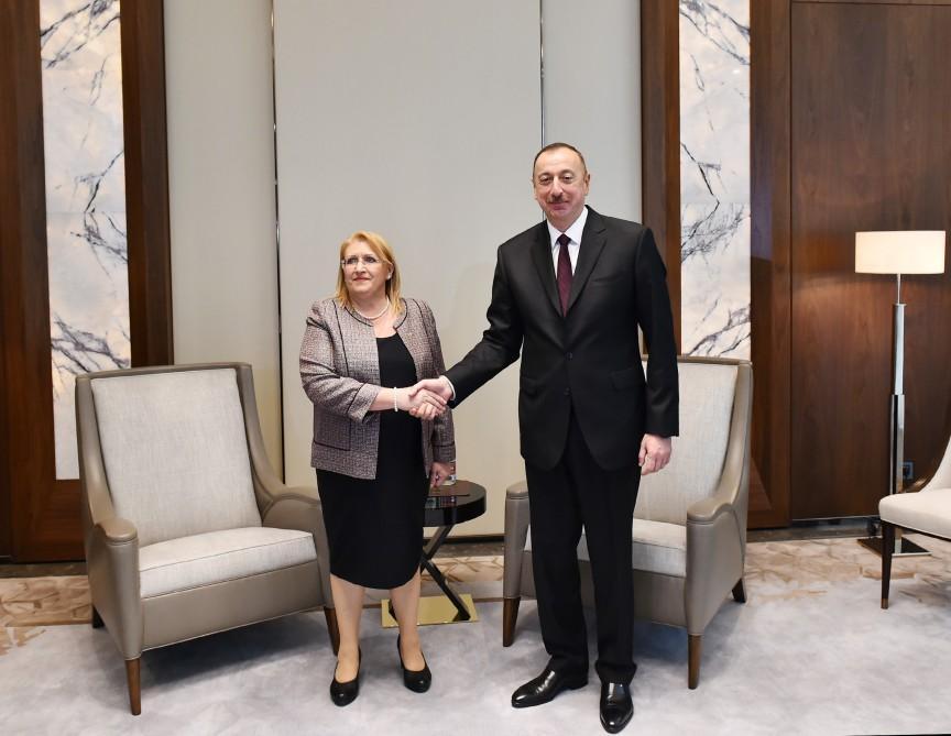 Ильхам Алиев встретился с президентом Мальты Марией-Луизой Колейро Прекой