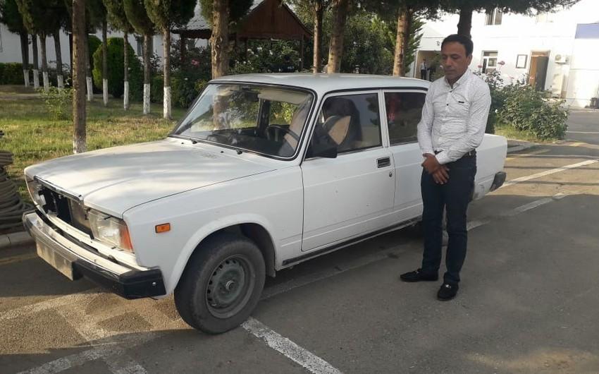 Ağsuda avtomobil oğurlayan şəxs tutulub - VİDEO - YENİLƏNİB
