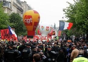 Во Франции на первомайских манифестациях задержали 56 человек