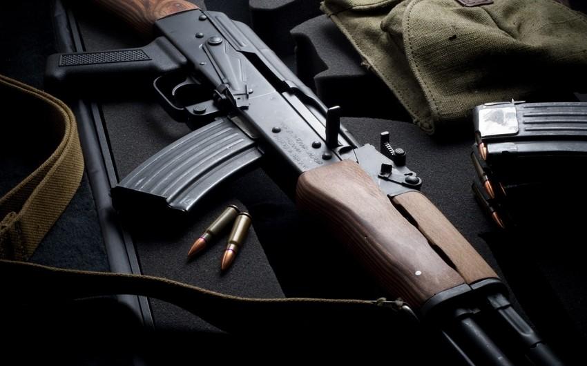 Salyan sakinindən silah-sursat götürülüb