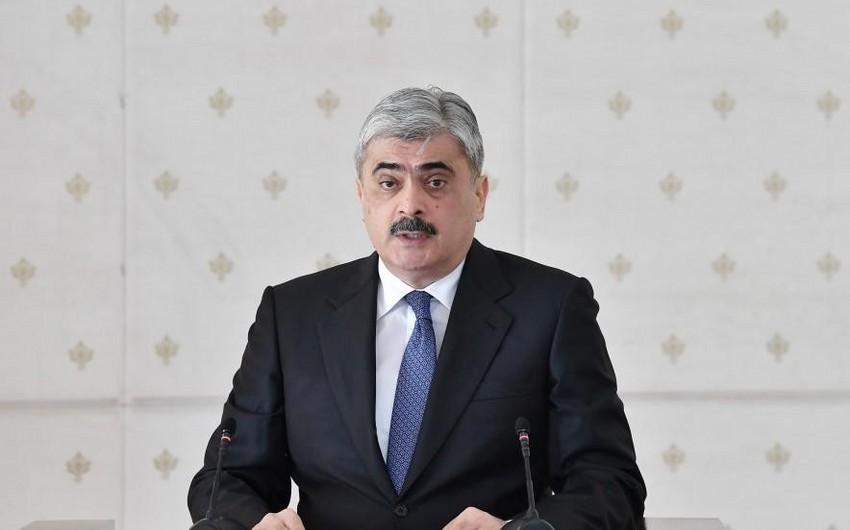 Samir Şərifov Milli Məclisə gəldi