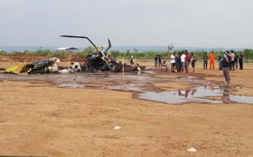 İndoneziyada helikopter qəzası nəticəsində 4 nəfər həlak olub