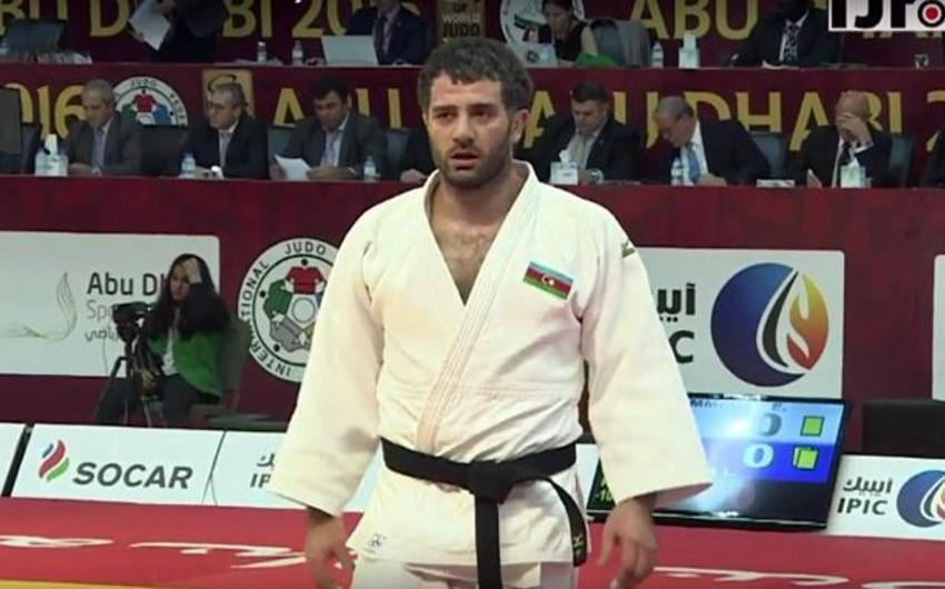 """Azərbaycan cüdoçusu """"Böyük Dəbilqə"""" turnirində qızıl medal qazanıb"""