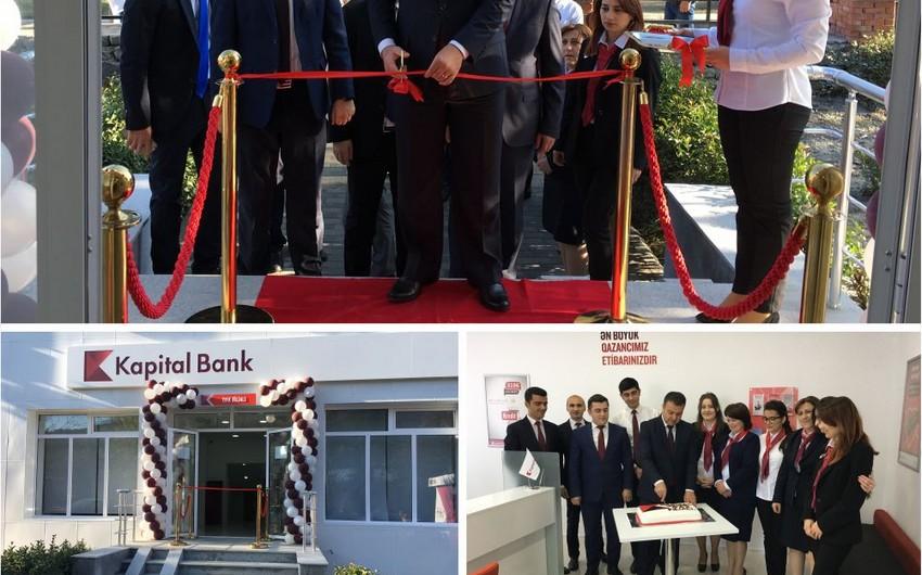 """""""Kapital Bank""""ın yenilənmiş Qax filialı istifadəyə verilib"""