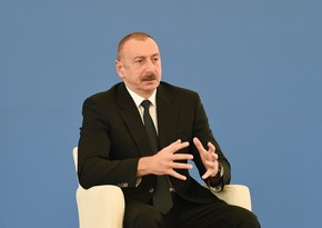 """İlham Əliyev """"Qobu"""" Elektrik Stansiyasının tikintisindən danışdı"""
