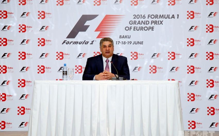 Azad Rəhimov Bakıda keçiriləcək Formula 1 Qran Prisinə ayrılan vəsaiti açıqlayıb