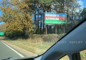 ŞimaliKarolinanın əsas yol qovşağına Qarabağ Azərbaycandır! bilbordu yerləşdirilib