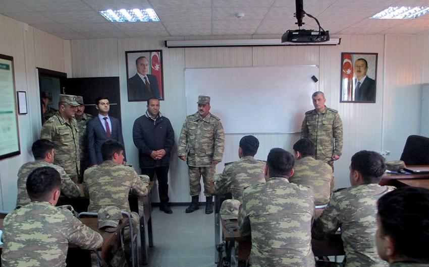 Ombudsman Aparatının nümayəndələri Hərbi Hava Qüvvələrinin bölmələrində olublar