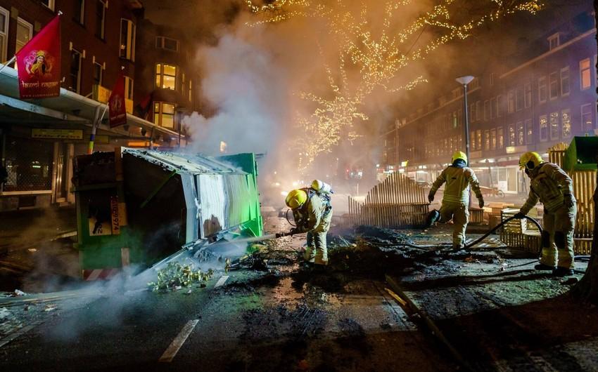 Более 150 человек задержаны в ходе вечерних беспорядков в Нидерландах