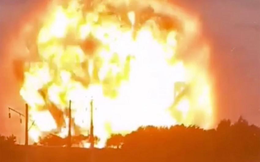 Qazaxıstanda partlayışın baş verdiyi anbarda 500 tondan çox trotil olub