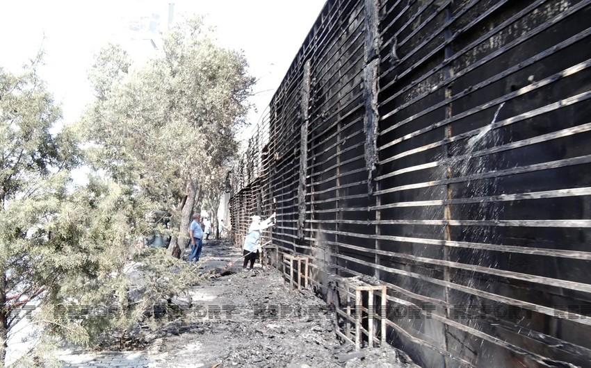 FHN: Heydər Əliyev prospektində yanğın 250 kv. m. ərazini əhatə edib