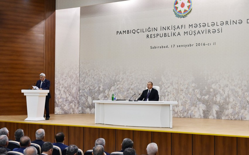 President Ilham Aliyev chaired conference on development of cotton-growing in Azerbaijan
