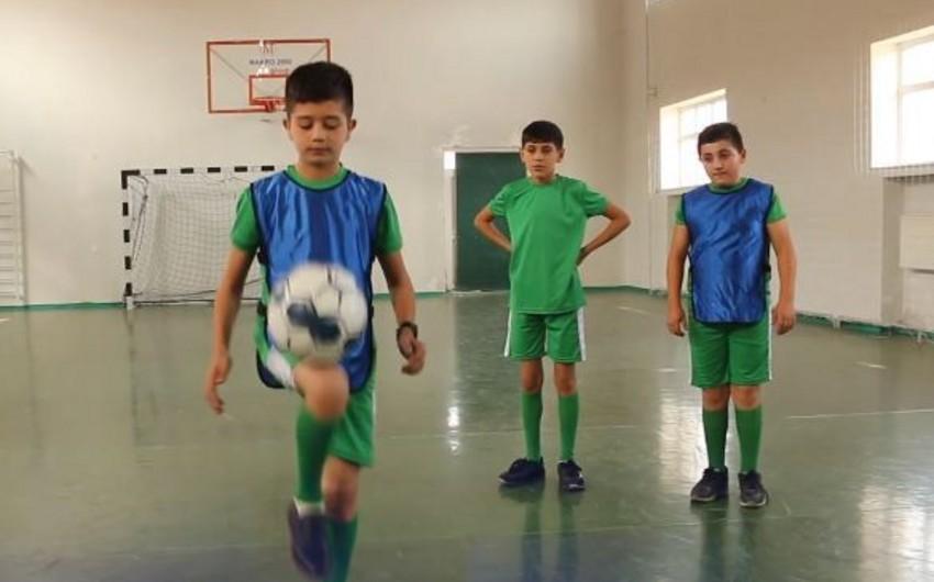 Tovuzda uşaq futboluna xidmət edən layihə - VİDEOREPORTAJ
