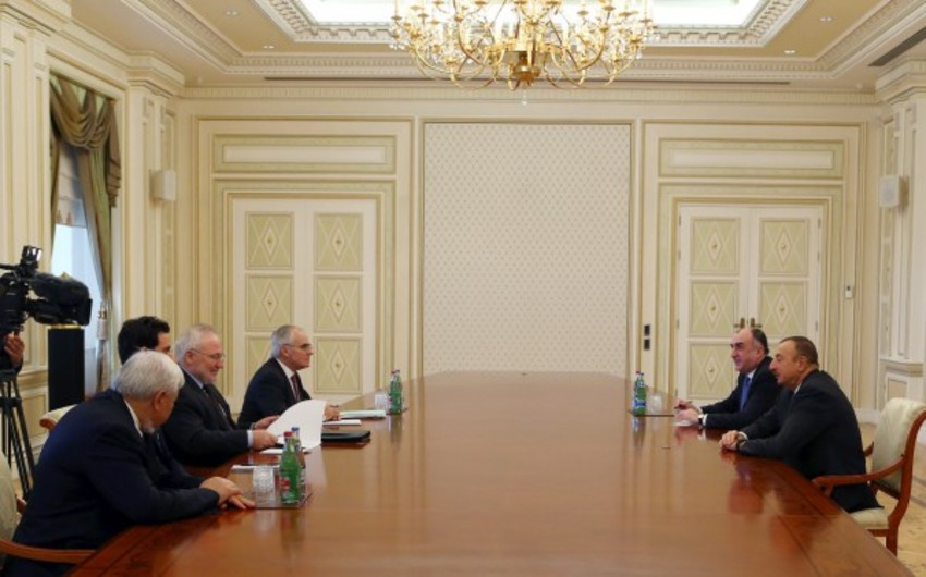 Azerbaijani President receives  OSCE Minsk Group co-chairs