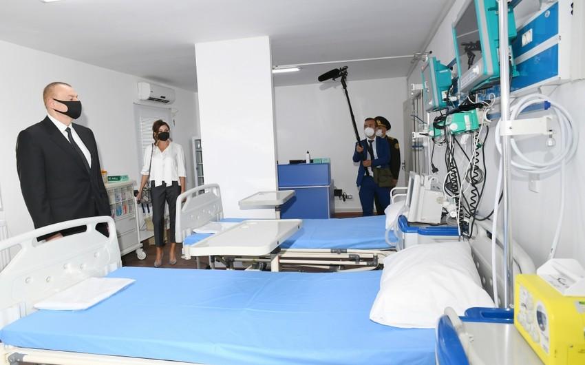 Prezidentvə birinci xanım Bakıda modul tipli hospitalın açılışında iştirak ediblər - YENİLƏNİB