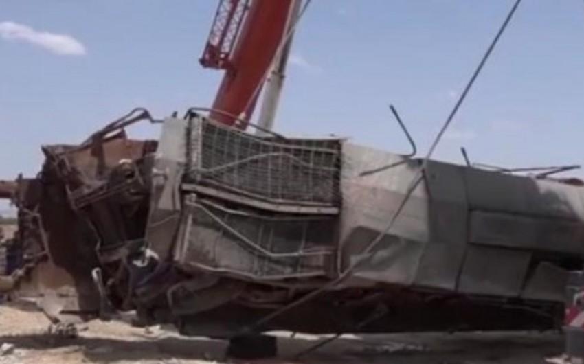 Tunisdə iki qatar toqquşub, 49 nəfər yaralanıb - VİDEO
