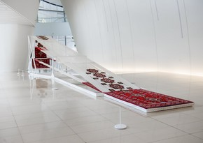 New artwork exhibited in Heydar Aliyev Center