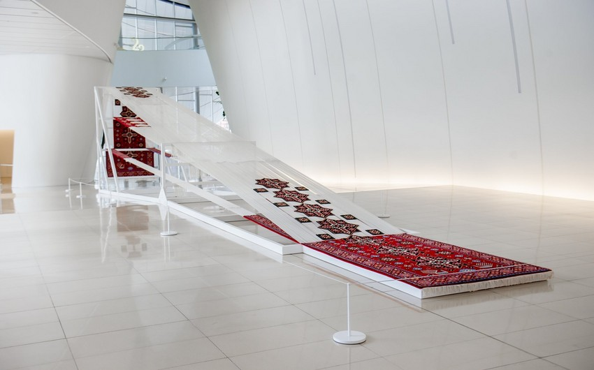 New artwork exhibited in Heydar Aliyev Center