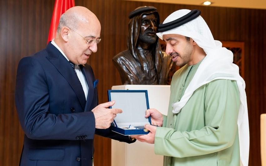 Azerbaijan awards UAE Foreign Minister