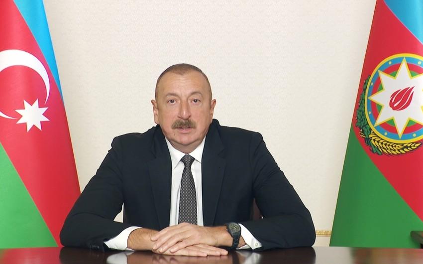 Ilham Aliyev makes video address on occasion of World Health Day