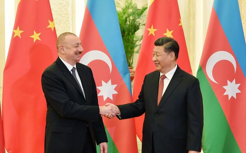 Azərbaycan Prezidenti və Çin Xalq Respublikasının Sədri arasında görüş olub - ƏLAVƏ OLUNUB